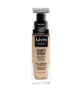 Nyx Professional Makeup - Can't Stop won't Stop Foundation - CSWSF06.3: Warm vanillla