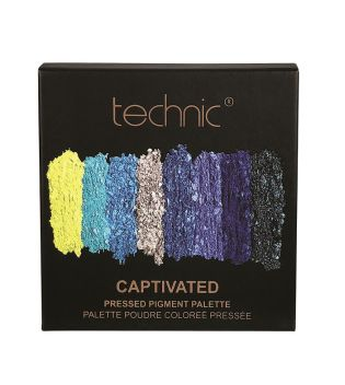 Technic Cosmetics - Pressed Pigments Lidschatten Palette - Captivated